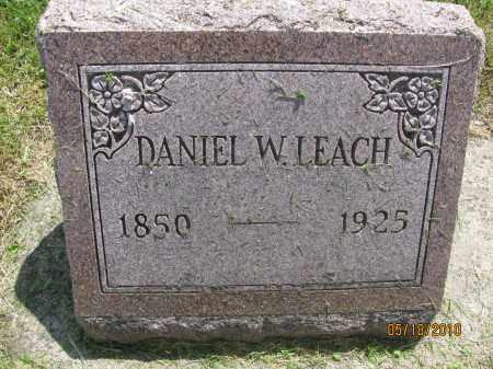 LEACH, DANIEL WEBSTER - Saline County, Nebraska   DANIEL WEBSTER LEACH - Nebraska Gravestone Photos