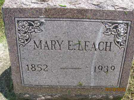 MOFFITT LEACH, MARY ELIZABETH - Saline County, Nebraska | MARY ELIZABETH MOFFITT LEACH - Nebraska Gravestone Photos