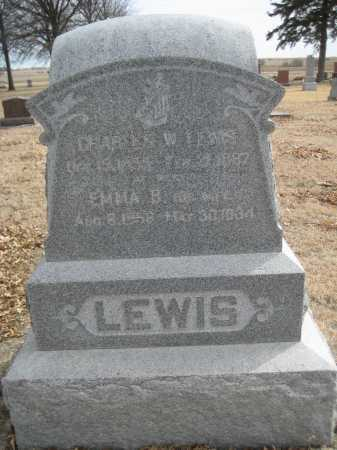 LEWIS, CHARLES W. - Saline County, Nebraska | CHARLES W. LEWIS - Nebraska Gravestone Photos