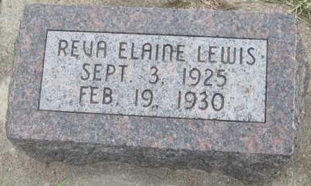 LEWIS, REVA ELAINE - Saline County, Nebraska | REVA ELAINE LEWIS - Nebraska Gravestone Photos