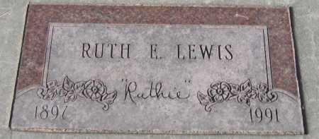 LEWIS, RUTH E. - Saline County, Nebraska | RUTH E. LEWIS - Nebraska Gravestone Photos