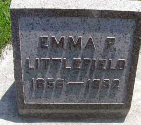 LITTLEFIELD, EMMA FRANCES - Saline County, Nebraska | EMMA FRANCES LITTLEFIELD - Nebraska Gravestone Photos