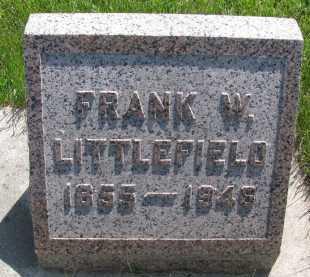 LITTLEFIELD, FRANK WALDO - Saline County, Nebraska | FRANK WALDO LITTLEFIELD - Nebraska Gravestone Photos