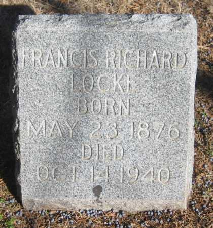 LOCKE, FRANCIS RICHARD - Saline County, Nebraska | FRANCIS RICHARD LOCKE - Nebraska Gravestone Photos