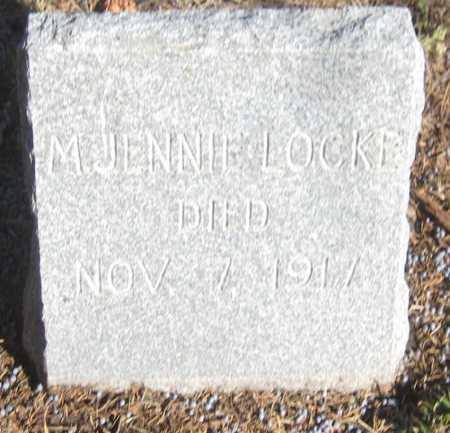 LOCKE, M. JENNIE - Saline County, Nebraska   M. JENNIE LOCKE - Nebraska Gravestone Photos