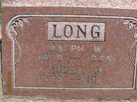 LONG, RALPH W. - Saline County, Nebraska | RALPH W. LONG - Nebraska Gravestone Photos