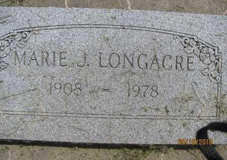 LONGACRE, MARIE J. - Saline County, Nebraska | MARIE J. LONGACRE - Nebraska Gravestone Photos