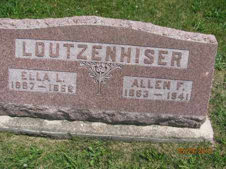 LOUTZENHISER/LAUTZENHISER, ALLEN FRANKLIN - Saline County, Nebraska   ALLEN FRANKLIN LOUTZENHISER/LAUTZENHISER - Nebraska Gravestone Photos