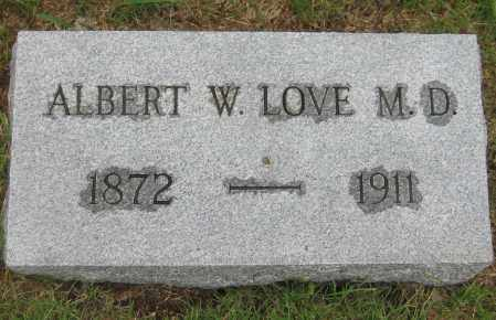 LOVE, ALBERT W. MD - Saline County, Nebraska | ALBERT W. MD LOVE - Nebraska Gravestone Photos