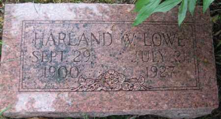 LOWE, HARLAND W. - Saline County, Nebraska   HARLAND W. LOWE - Nebraska Gravestone Photos