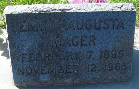 MAGER, EMMA AUGUSTA - Saline County, Nebraska | EMMA AUGUSTA MAGER - Nebraska Gravestone Photos