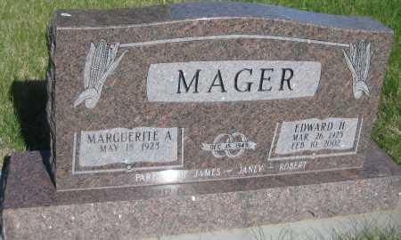 MAGER, EDWARD H. - Saline County, Nebraska | EDWARD H. MAGER - Nebraska Gravestone Photos