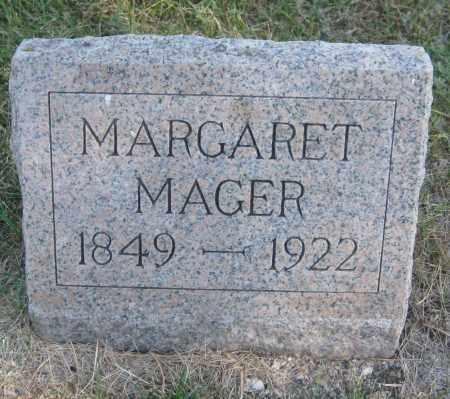MAGER, MARGARET - Saline County, Nebraska | MARGARET MAGER - Nebraska Gravestone Photos