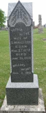 WITTE MALLORY, SOPHIA - Saline County, Nebraska   SOPHIA WITTE MALLORY - Nebraska Gravestone Photos
