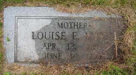 MANN, LOUISE E. - Saline County, Nebraska | LOUISE E. MANN - Nebraska Gravestone Photos