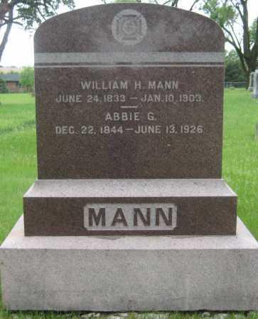 MANN, WILLIAM H. - Saline County, Nebraska | WILLIAM H. MANN - Nebraska Gravestone Photos