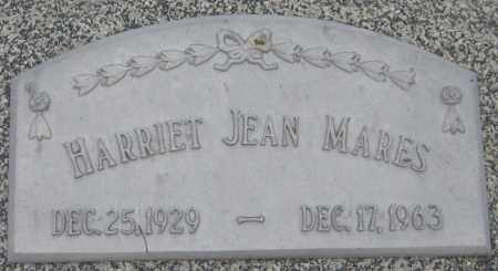 MARES, HARRIET JEAN - Saline County, Nebraska | HARRIET JEAN MARES - Nebraska Gravestone Photos