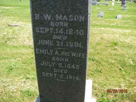 MASON, EMILY A. - Saline County, Nebraska | EMILY A. MASON - Nebraska Gravestone Photos