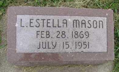 MASON, L. ESTELLA - Saline County, Nebraska | L. ESTELLA MASON - Nebraska Gravestone Photos