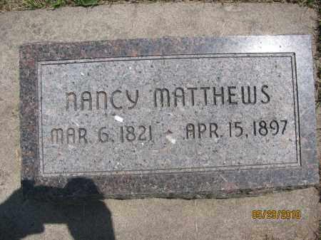 MATTHEWS, NANCY - Saline County, Nebraska | NANCY MATTHEWS - Nebraska Gravestone Photos
