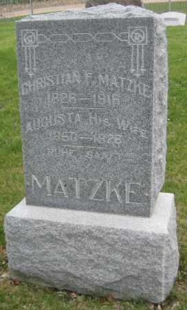 MATZKE, AUGUSTA - Saline County, Nebraska | AUGUSTA MATZKE - Nebraska Gravestone Photos
