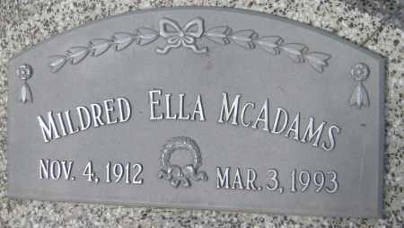 MCADAMS, MILDRED ELLA - Saline County, Nebraska   MILDRED ELLA MCADAMS - Nebraska Gravestone Photos