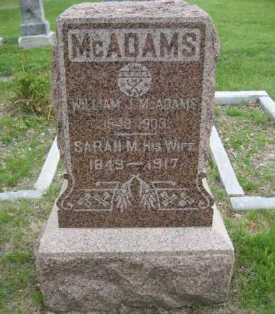 MCADAMS, SARAH M. - Saline County, Nebraska | SARAH M. MCADAMS - Nebraska Gravestone Photos