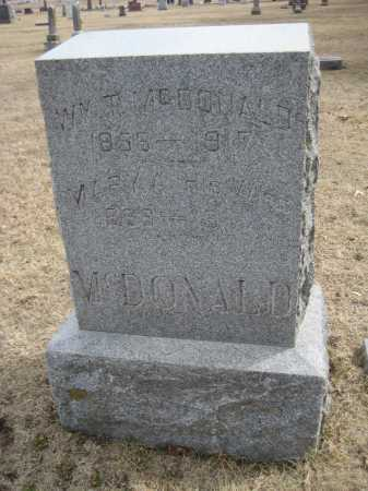 MCDONALD, WILLIAM T. - Saline County, Nebraska | WILLIAM T. MCDONALD - Nebraska Gravestone Photos