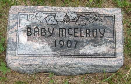 MCELROY, BABY BOY - Saline County, Nebraska   BABY BOY MCELROY - Nebraska Gravestone Photos