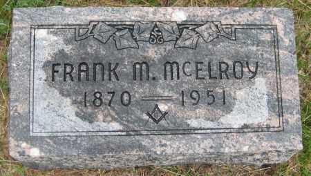 MCELROY, FRANK M. - Saline County, Nebraska | FRANK M. MCELROY - Nebraska Gravestone Photos