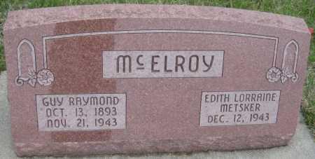 MCELROY, GUY RAYMOND - Saline County, Nebraska | GUY RAYMOND MCELROY - Nebraska Gravestone Photos