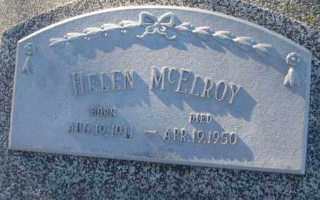 MCELROY, HELEN - Saline County, Nebraska   HELEN MCELROY - Nebraska Gravestone Photos