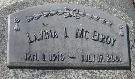 MCELROY, LAVINA IRMA - Saline County, Nebraska | LAVINA IRMA MCELROY - Nebraska Gravestone Photos