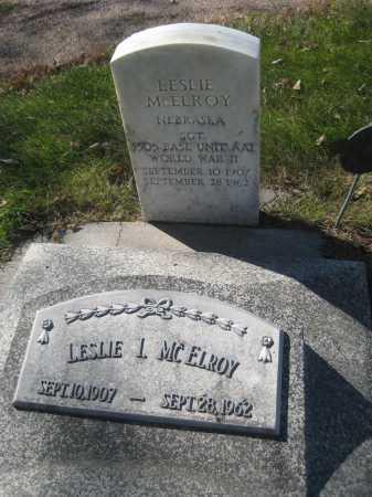 MCELROY, LESLIE I. - Saline County, Nebraska | LESLIE I. MCELROY - Nebraska Gravestone Photos