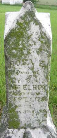 MCELROY, ROSA E. - Saline County, Nebraska | ROSA E. MCELROY - Nebraska Gravestone Photos
