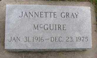 MCGUIRE, JANNETTE - Saline County, Nebraska | JANNETTE MCGUIRE - Nebraska Gravestone Photos