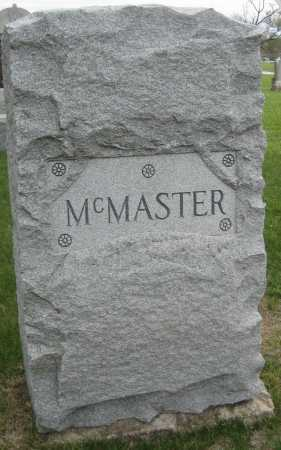 MCMASTER, FAMILY MONUMENT - Saline County, Nebraska | FAMILY MONUMENT MCMASTER - Nebraska Gravestone Photos