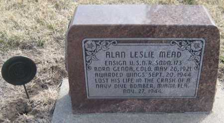 MEAD, ALAN LESLIE - Saline County, Nebraska | ALAN LESLIE MEAD - Nebraska Gravestone Photos