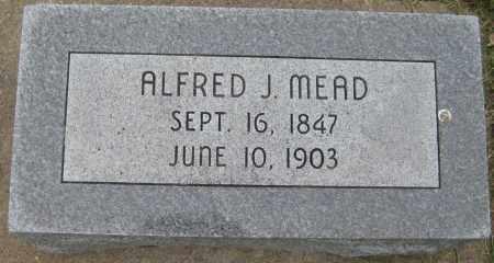MEAD, ALFRED J. - Saline County, Nebraska | ALFRED J. MEAD - Nebraska Gravestone Photos