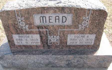 MEAD, HATTIE E. - Saline County, Nebraska | HATTIE E. MEAD - Nebraska Gravestone Photos