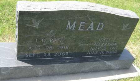 MEAD, L.D. PETE - Saline County, Nebraska | L.D. PETE MEAD - Nebraska Gravestone Photos