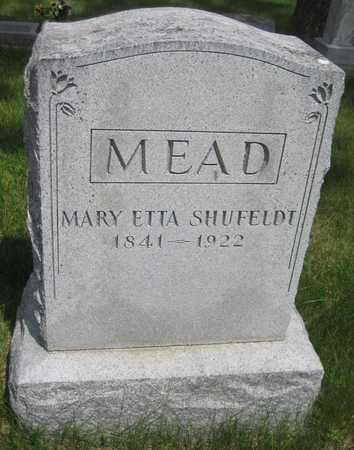 MEAD, MARY ETTA - Saline County, Nebraska   MARY ETTA MEAD - Nebraska Gravestone Photos