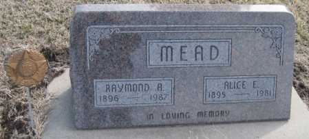 MEAD, RAYMOND A. - Saline County, Nebraska | RAYMOND A. MEAD - Nebraska Gravestone Photos