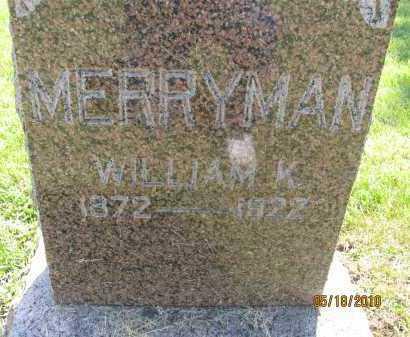 MERRYMAN, WILLIAM K. - Saline County, Nebraska | WILLIAM K. MERRYMAN - Nebraska Gravestone Photos
