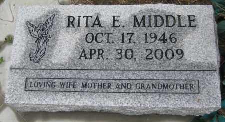 MIDDLE, RITA E. - Saline County, Nebraska | RITA E. MIDDLE - Nebraska Gravestone Photos