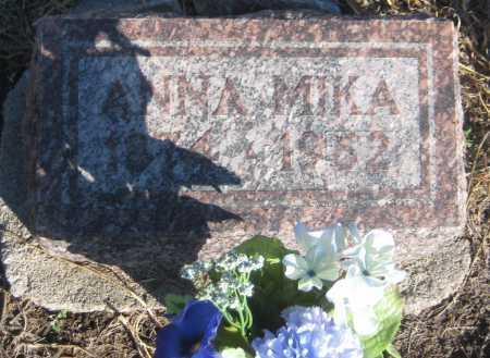 MIKA, ANNA - Saline County, Nebraska | ANNA MIKA - Nebraska Gravestone Photos