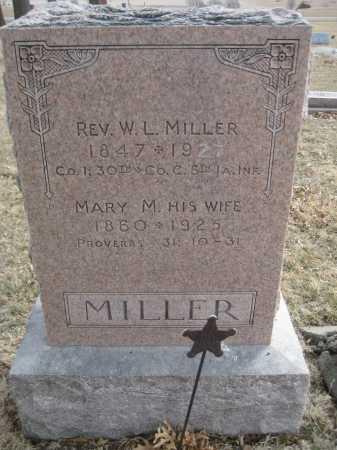 MILLER, W. L. - Saline County, Nebraska   W. L. MILLER - Nebraska Gravestone Photos