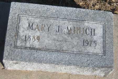 MINICH, MARY J. - Saline County, Nebraska | MARY J. MINICH - Nebraska Gravestone Photos