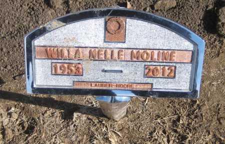CONNOLLY MOLINE, WILLA NELLE - Saline County, Nebraska | WILLA NELLE CONNOLLY MOLINE - Nebraska Gravestone Photos