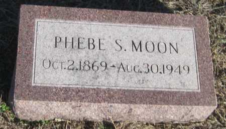 MOON, PHEBE S. - Saline County, Nebraska | PHEBE S. MOON - Nebraska Gravestone Photos